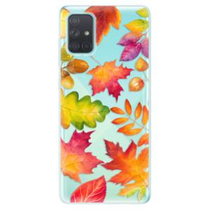 Odolné silikonové pouzdro iSaprio - Autumn Leaves 01 na mobil Samsung Galaxy A71