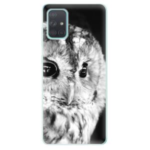 Odolné silikonové pouzdro iSaprio - BW Owl na mobil Samsung Galaxy A71
