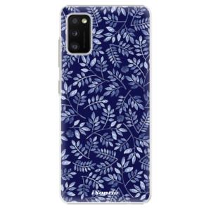 Plastové pouzdro iSaprio - Blue Leaves 05 - na mobil Samsung Galaxy A41