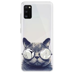 Plastové pouzdro iSaprio - Crazy Cat 01 - na mobil Samsung Galaxy A41