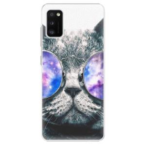 Plastové pouzdro iSaprio - Galaxy Cat - na mobil Samsung Galaxy A41 - výprodej