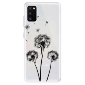 Plastové pouzdro iSaprio - Three Dandelions - black - na mobil Samsung Galaxy A41