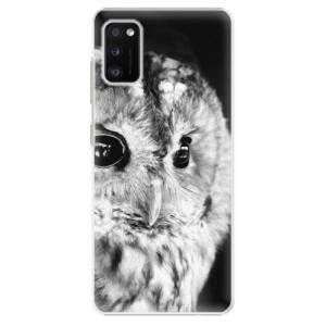 Plastové pouzdro iSaprio - BW Owl - na mobil Samsung Galaxy A41