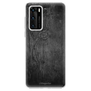 Plastové pouzdro iSaprio - Black Wood 13 - na mobil Huawei P40