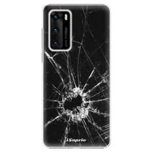 Plastové pouzdro iSaprio - Broken Glass 10 - na mobil Huawei P40