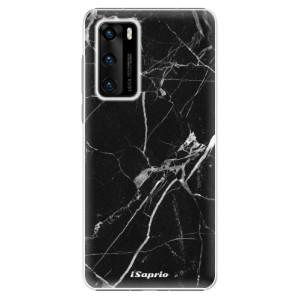 Plastové pouzdro iSaprio - Black Marble 18 - na mobil Huawei P40