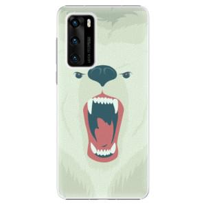 Plastové pouzdro iSaprio - Angry Bear - na mobil Huawei P40