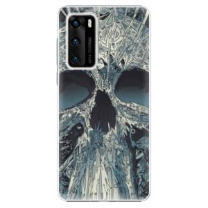 Plastové pouzdro iSaprio - Abstract Skull - na mobil Huawei P40