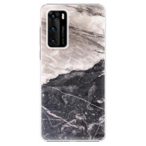 Plastové pouzdro iSaprio - BW Marble - na mobil Huawei P40