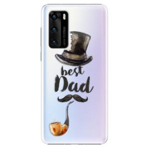 Plastové pouzdro iSaprio - Best Dad - na mobil Huawei P40