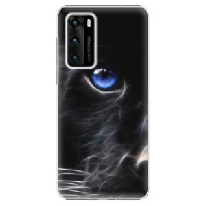 Plastové pouzdro iSaprio - Black Puma - na mobil Huawei P40