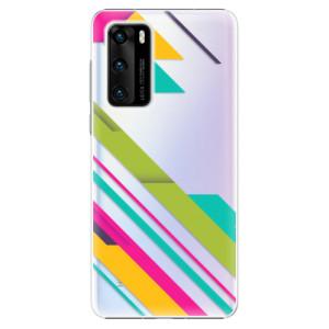 Plastové pouzdro iSaprio - Color Stripes 03 - na mobil Huawei P40
