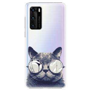 Plastové pouzdro iSaprio - Crazy Cat 01 - na mobil Huawei P40