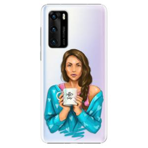 Plastové pouzdro iSaprio - Coffe Now - Brunette - na mobil Huawei P40