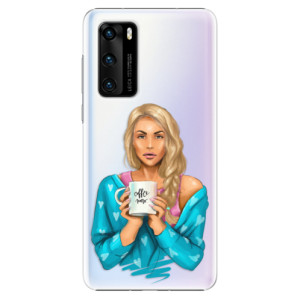 Plastové pouzdro iSaprio - Coffe Now - Blond - na mobil Huawei P40