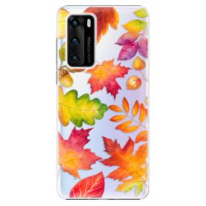Plastové pouzdro iSaprio - Autumn Leaves 01 - na mobil Huawei P40