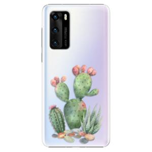 Plastové pouzdro iSaprio - Cacti 01 - na mobil Huawei P40