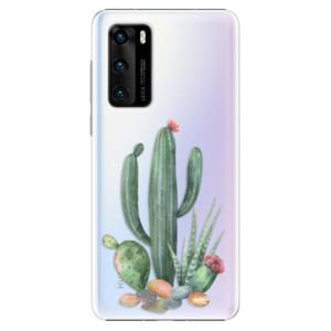 Plastové pouzdro iSaprio - Cacti 02 - na mobil Huawei P40