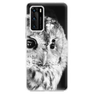 Plastové pouzdro iSaprio - BW Owl - na mobil Huawei P40