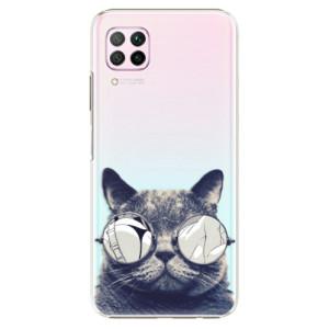 Plastové pouzdro iSaprio - Crazy Cat 01 - na mobil Huawei P40 Lite
