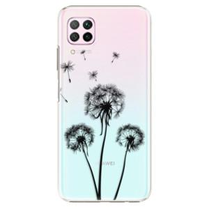 Plastové pouzdro iSaprio - Three Dandelions - black - na mobil Huawei P40 Lite
