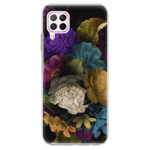 Plastové pouzdro iSaprio - Dark Flowers - na mobil Huawei P40 Lite