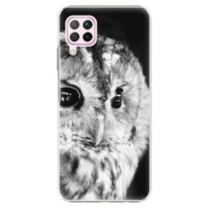 Plastové pouzdro iSaprio - BW Owl - na mobil Huawei P40 Lite