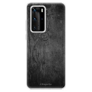 Plastové pouzdro iSaprio - Black Wood 13 - na mobil Huawei P40 Pro