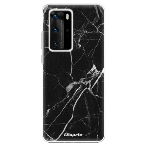 Plastové pouzdro iSaprio - Black Marble 18 - na mobil Huawei P40 Pro