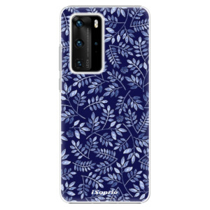 Plastové pouzdro iSaprio - Blue Leaves 05 - na mobil Huawei P40 Pro