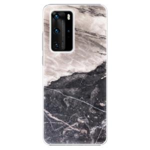 Plastové pouzdro iSaprio - BW Marble - na mobil Huawei P40 Pro