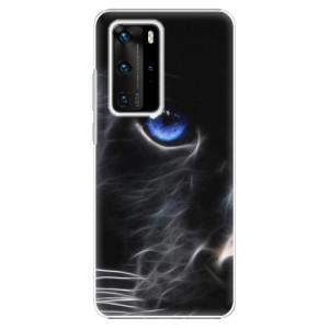 Plastové pouzdro iSaprio - Black Puma - na mobil Huawei P40 Pro