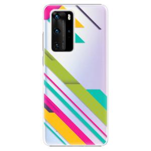 Plastové pouzdro iSaprio - Color Stripes 03 - na mobil Huawei P40 Pro
