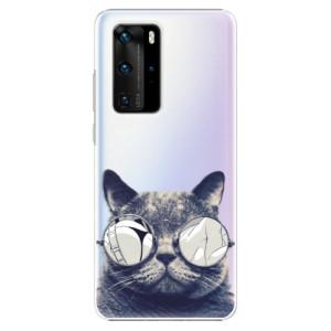 Plastové pouzdro iSaprio - Crazy Cat 01 - na mobil Huawei P40 Pro