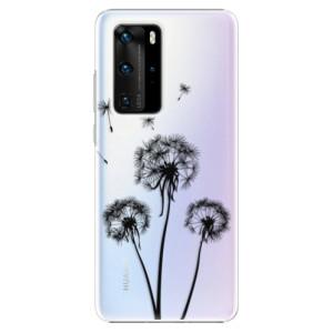 Plastové pouzdro iSaprio - Three Dandelions - black - na mobil Huawei P40 Pro