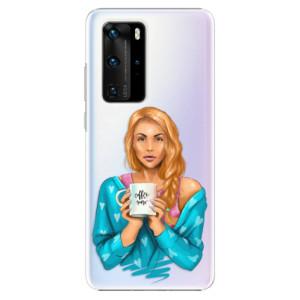 Plastové pouzdro iSaprio - Coffe Now - Redhead - na mobil Huawei P40 Pro