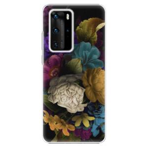 Plastové pouzdro iSaprio - Dark Flowers - na mobil Huawei P40 Pro