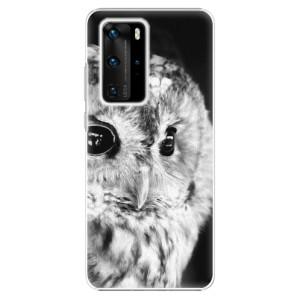 Plastové pouzdro iSaprio - BW Owl - na mobil Huawei P40 Pro