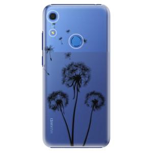 Plastové pouzdro iSaprio - Three Dandelions - black - na mobil Huawei Y6s