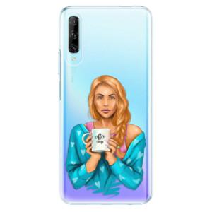 Plastové pouzdro iSaprio - Coffe Now - Redhead - na mobil Huawei P Smart Pro