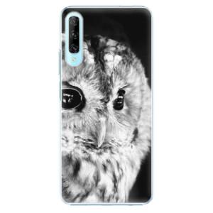 Plastové pouzdro iSaprio - BW Owl - na mobil Huawei P Smart Pro