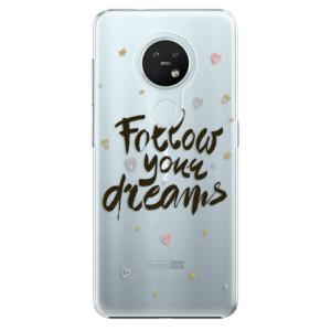 Plastové pouzdro iSaprio - Follow Your Dreams - black - na mobil Nokia 7.2