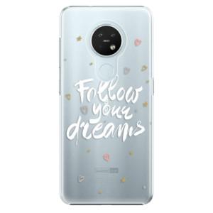 Plastové pouzdro iSaprio - Follow Your Dreams - white - na mobil Nokia 7.2