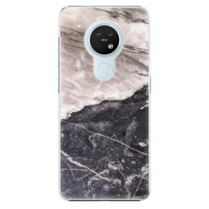 Plastové pouzdro iSaprio - BW Marble - na mobil Nokia 7.2