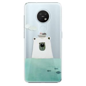 Plastové pouzdro iSaprio - Bear With Boat - na mobil Nokia 7.2