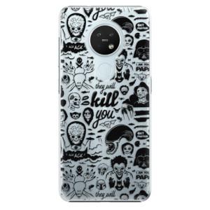 Plastové pouzdro iSaprio - Comics 01 - black - na mobil Nokia 7.2