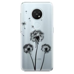 Plastové pouzdro iSaprio - Three Dandelions - black - na mobil Nokia 7.2