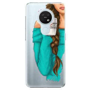 Plastové pouzdro iSaprio - My Coffe and Brunette Girl - na mobil Nokia 7.2