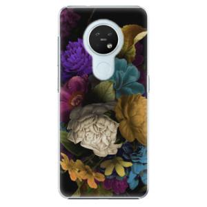 Plastové pouzdro iSaprio - Dark Flowers - na mobil Nokia 7.2