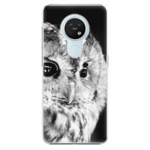 Plastové pouzdro iSaprio - BW Owl - na mobil Nokia 7.2